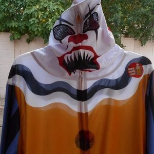 Bioworld Halloween SCARY CLOWN FACE HOODIE LARGE